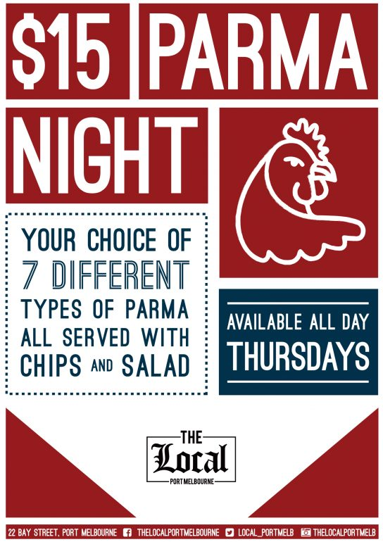 Thursday Parma Night The Local